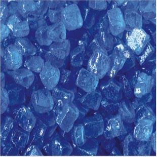蓝色玻璃沙